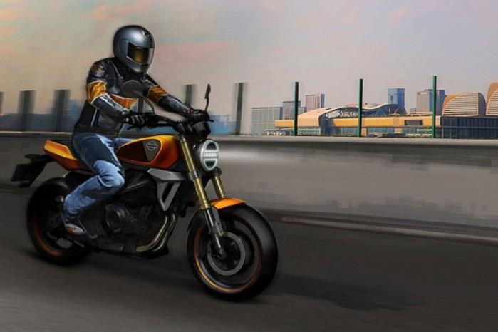Harley 338cc twin 2