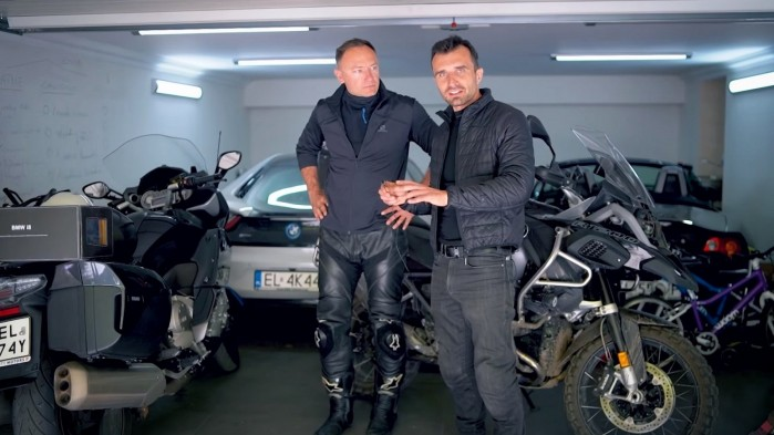 Barry Moto i Kuba Midel garaz