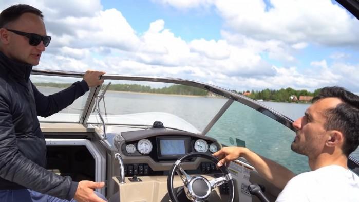 Barry Moto i Kuba Midel na wodzie