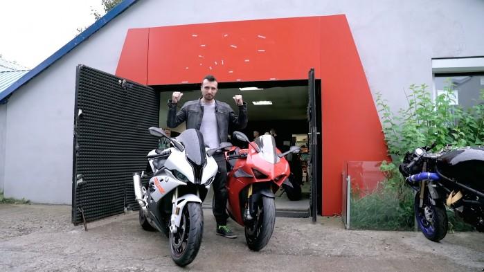 BMW S1000RR Vs Ducati Panigale V4S na hamowni