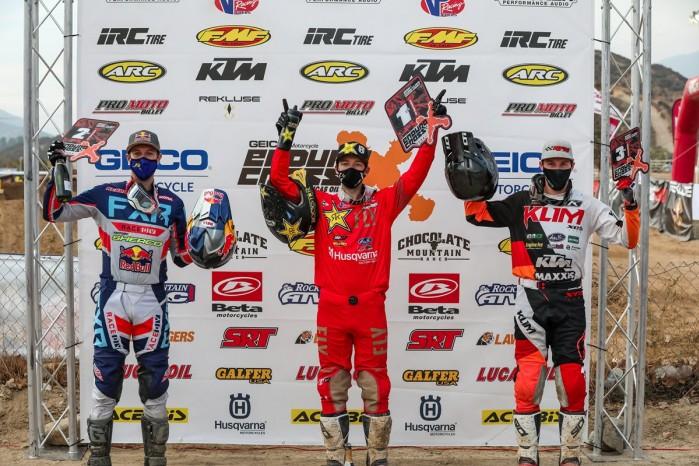 podium klasy Pro EnduroCross