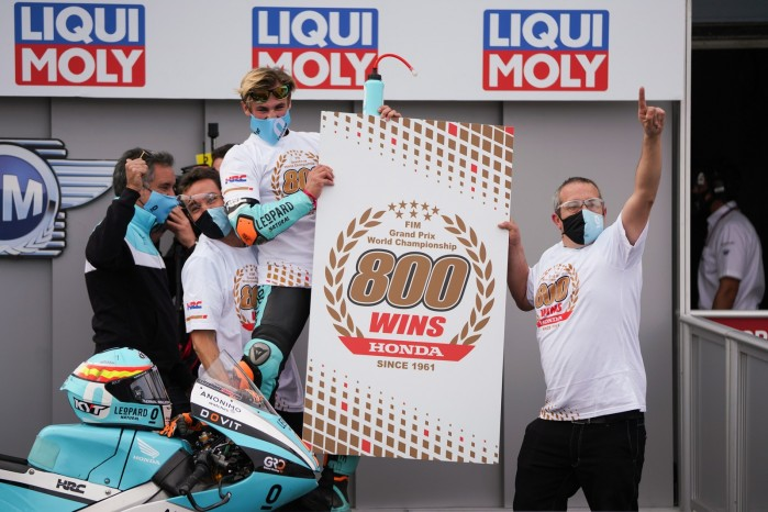 312343 Masia takes record 800th Grand Prix win for Honda