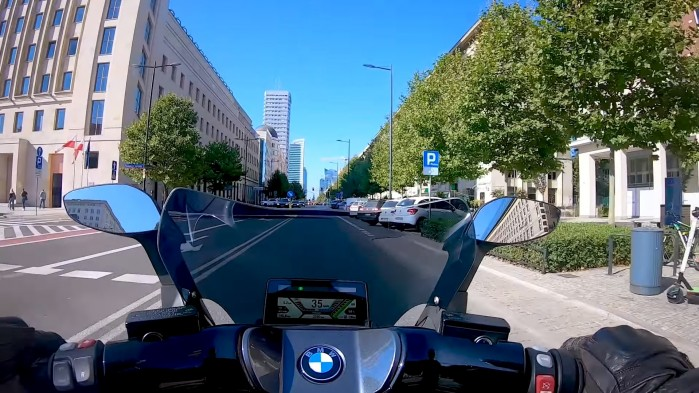 BMW C Evolution za kierownica kokpit