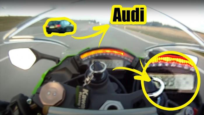 kawasaki zx10r vs Audi