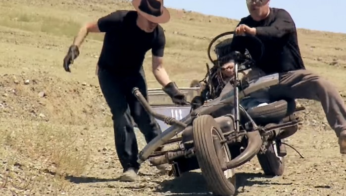 motocykl emile leray odtworzony w programie the mythbusters