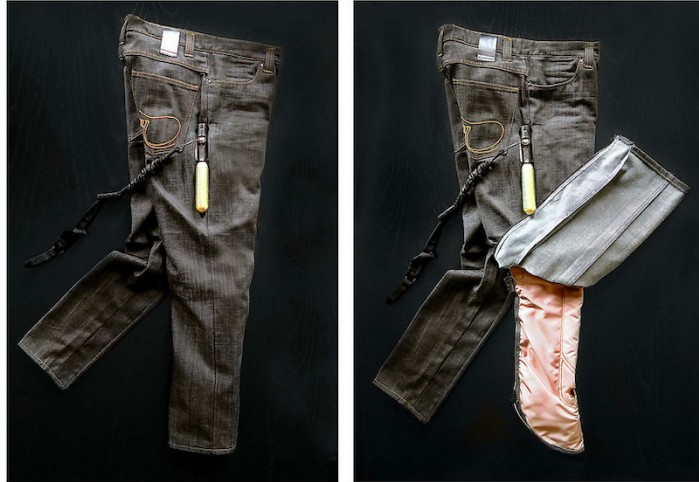 jeansy airbag prototyp
