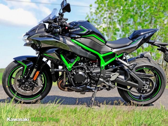 3 Kawasaki Z H2 zielony
