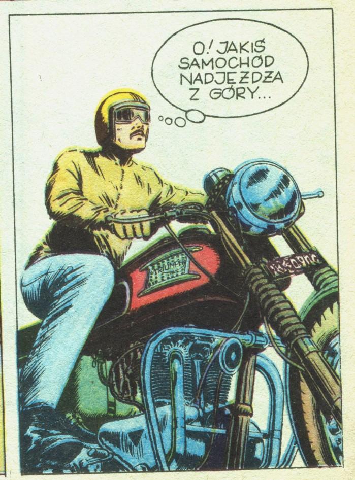 Motocykl Triumph w komiksie Kapitan Zbik