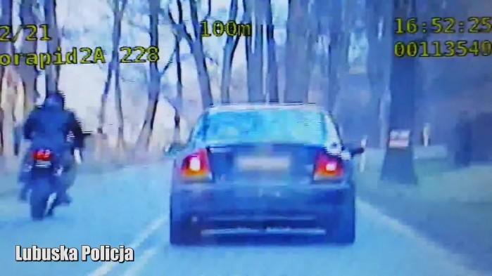 lubuska policja ucieczka motocklem w terenie