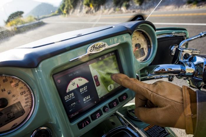 motocyklowy ekran dotykowy