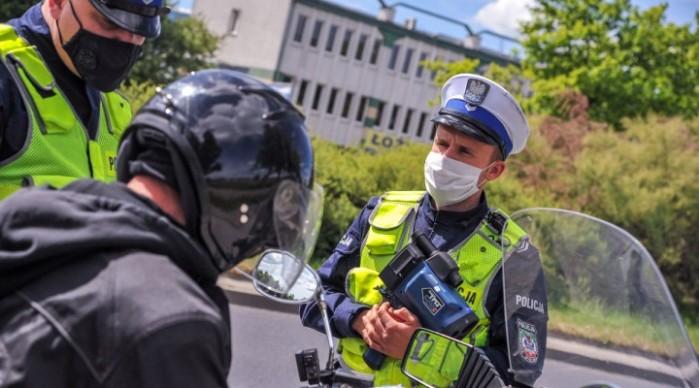 policja motocykl kotrola z