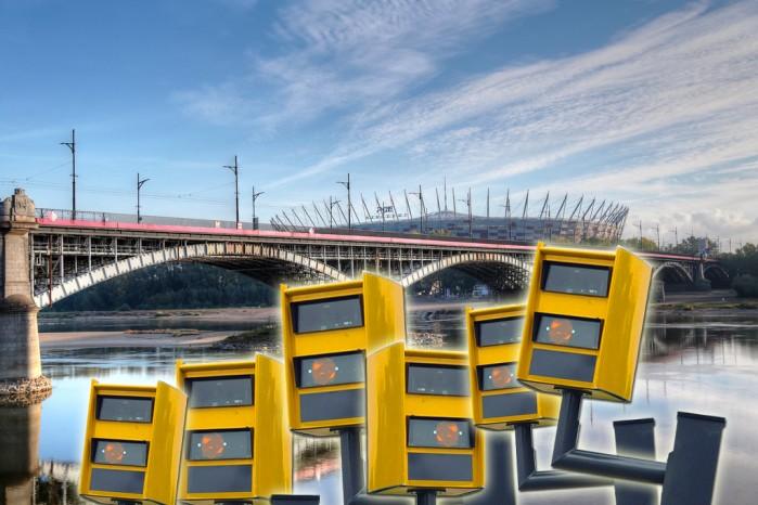 Most Poniatowskiego fotoradary z