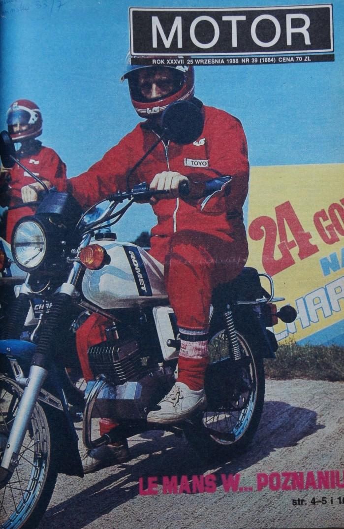 Prasowe echa jazdy 24 godzinnej jazdy motoroweru Romet 210 Chart Elektronik