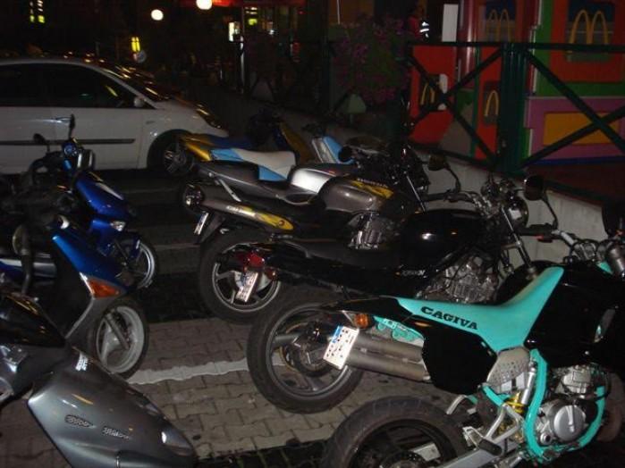 Aprilia SR50 parking