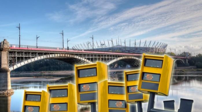 Most Poniatowskiego fotoradary testowe z