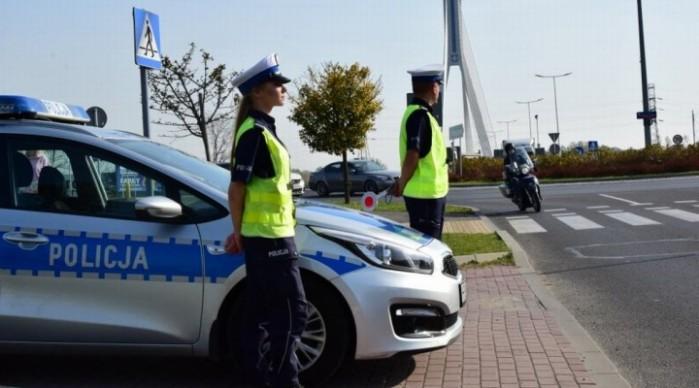 akcja policji motocykl z