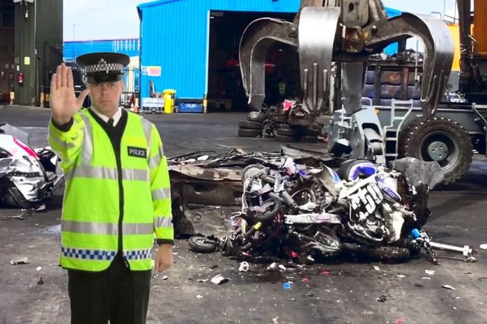 zniszczone motocykle