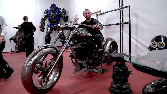 10 Rajd motocyklowy Industrialne Mazowsze 2021 pruszkow wystawa figur stalowych