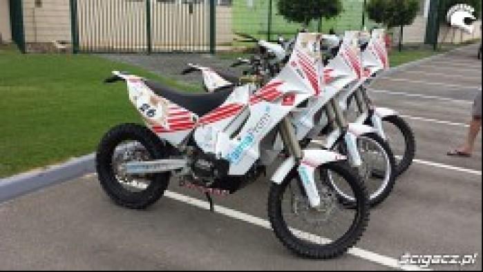 motocykle ekipy Nasz Dakar