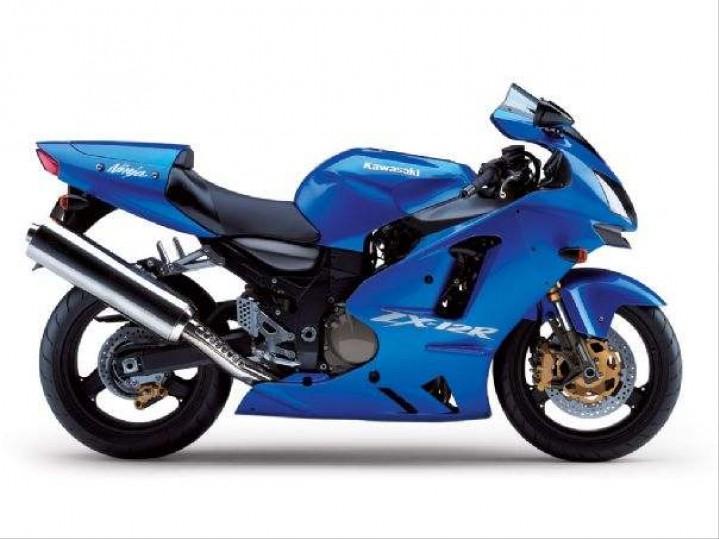 Kawasaki ZX 12 R niebieskie