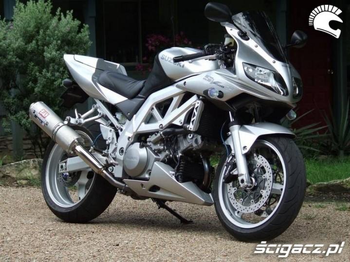 Tuning Suzuki sv 1000 srebrny