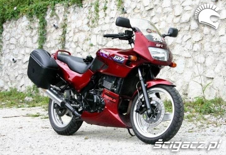 Kawasaki GPZ500 turystycznie