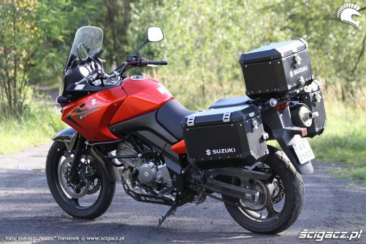po za szosa Suzuki DL650 test