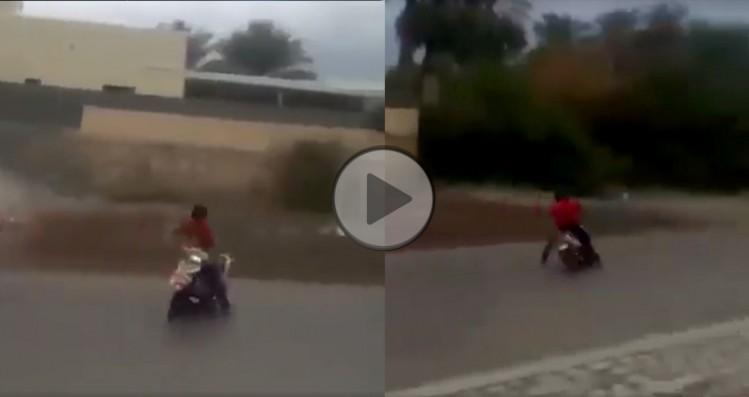 szalony drift skuterem