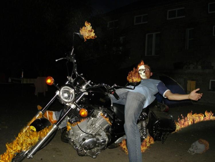 Zdjęcie » Chemik1989 » ghost rider w akcji ;-)