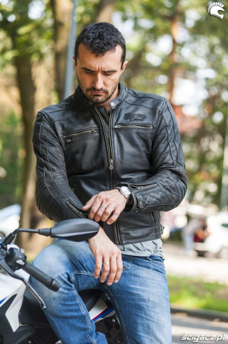 skora motocyklowa segura iron