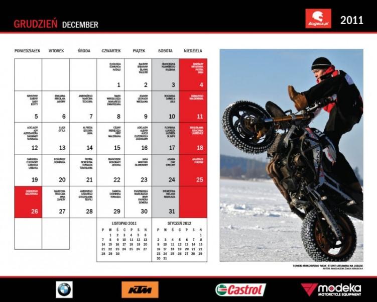 25 Grudzien kalendarz motocyklowy MOK