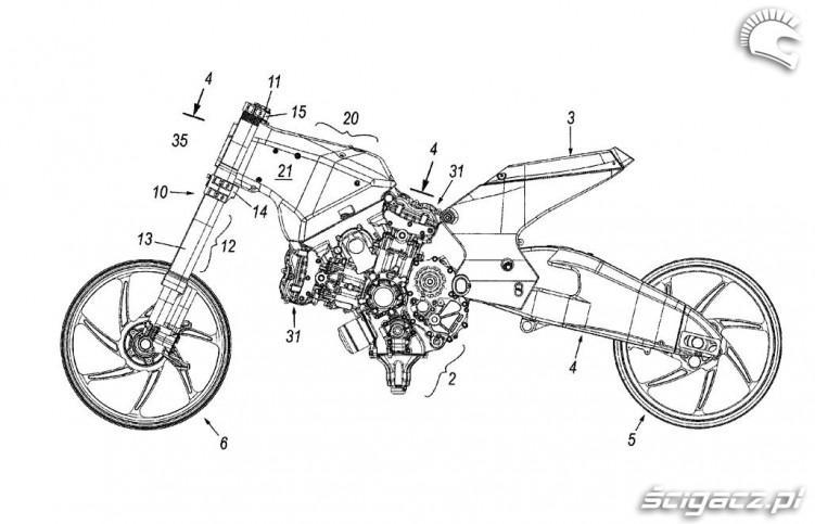 silnik jako element nosny konstrukcji DUCATI
