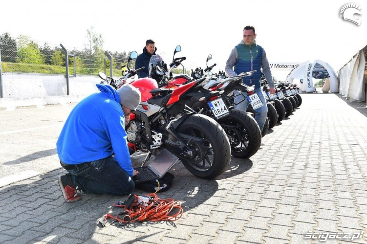 Elektronika California Superbike School Poznan
