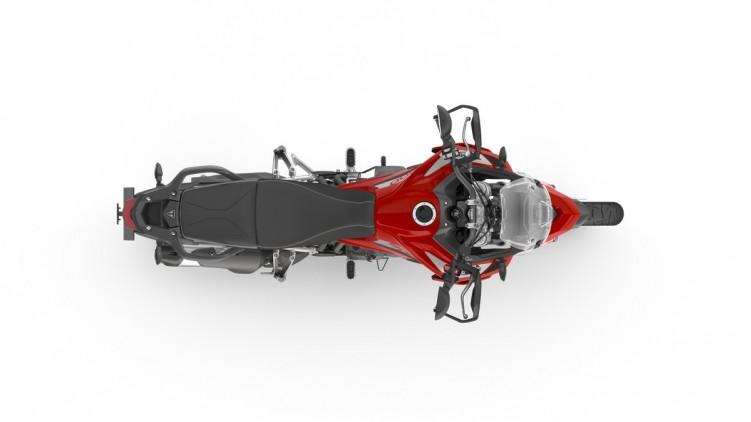074 Tiger 900 GT 2020 czerwony od gory