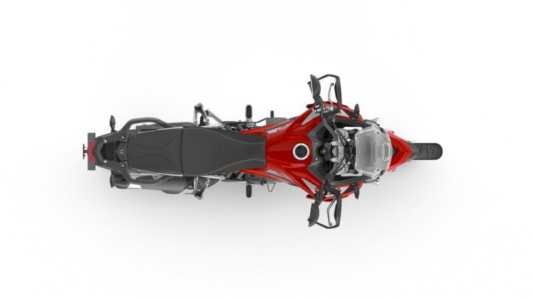 095 Tiger 900 GT PRO 2020 czerwony od gory
