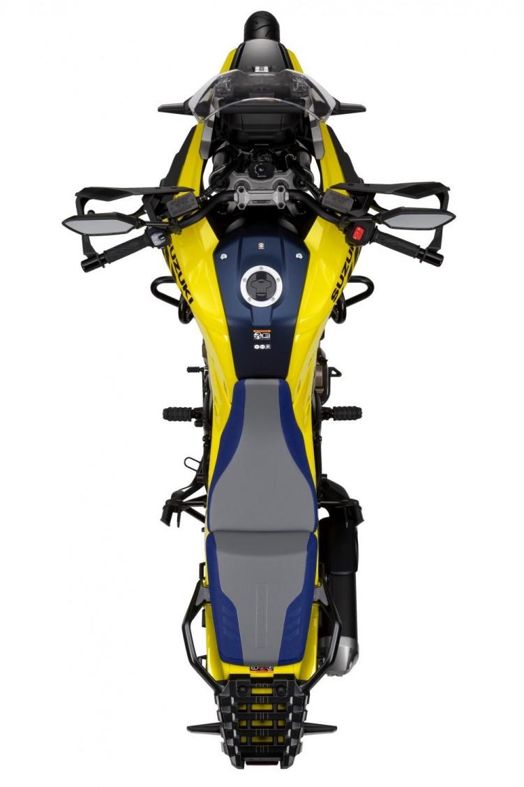 2020 Suzuki V Strom 1050 studio z gory zolty