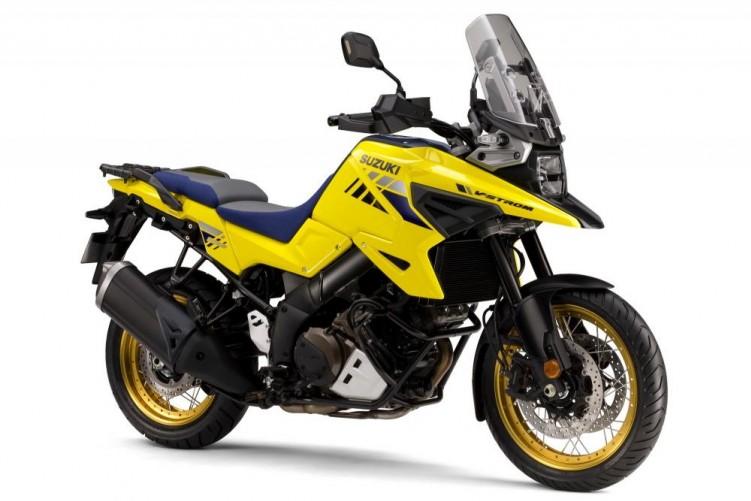 Suzuki V Strom 1050 2020 zolty prawy przod