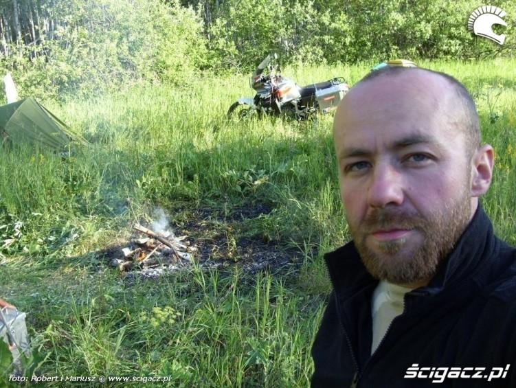obozowisko wyprawa motocyklem do Magadanu