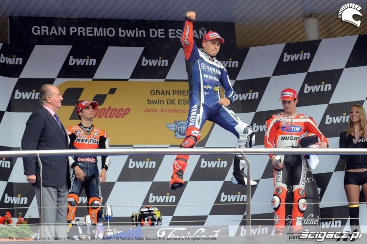Lorenzo podium Hiszpania 2011