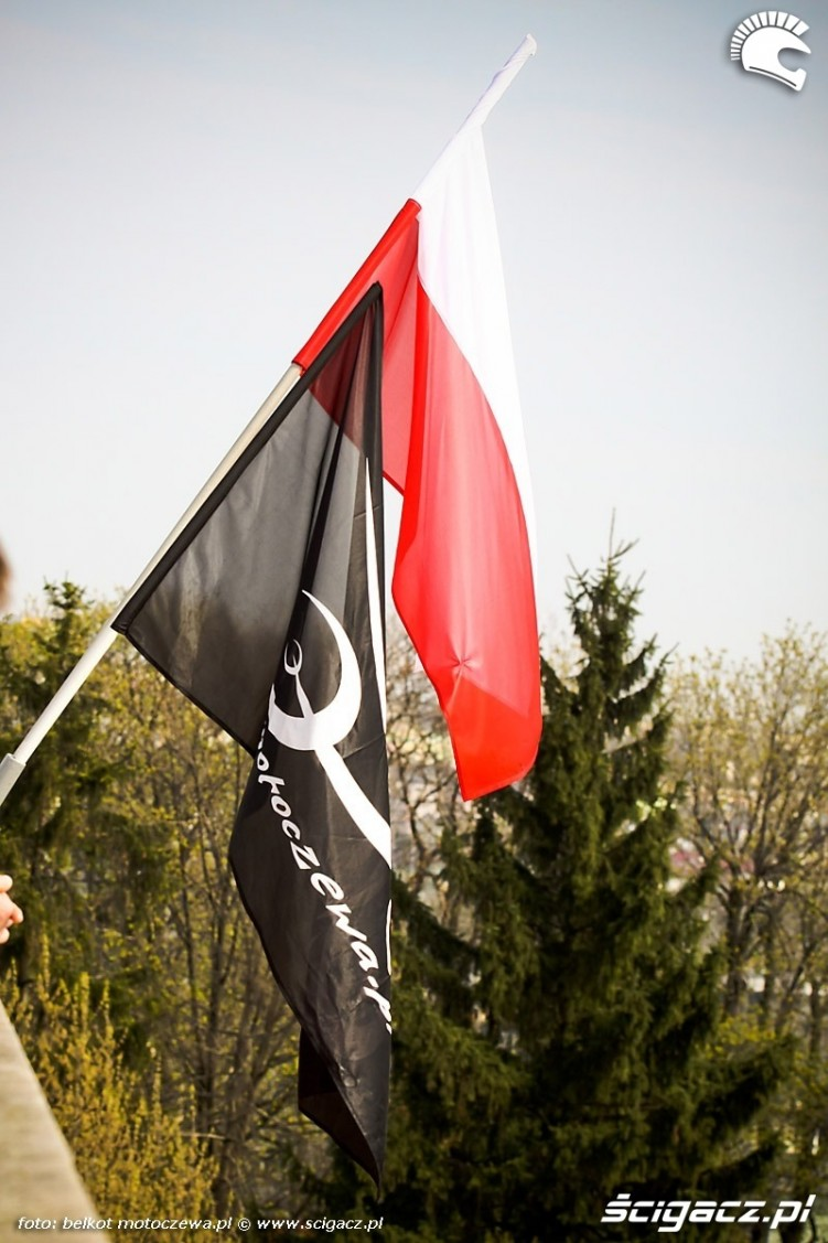 flaga motoczewa i polska
