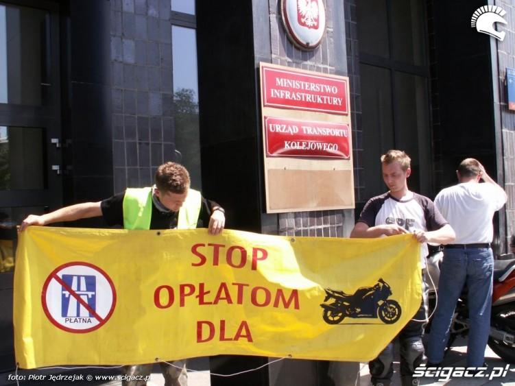 protest Ministerstwo protest przeciwko oplatom na autostradach