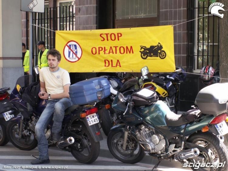 stop oplatom dla protest przeciwko oplatom na autostradach