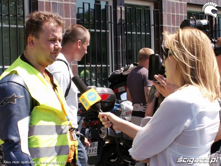 wywiad dla TVN motocyklista protest przeciwko oplatom na autostradach