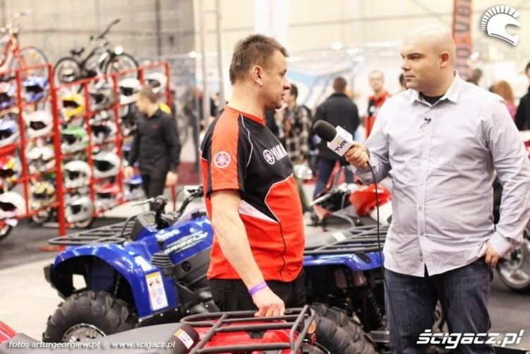 wywiad yamaha Targi Motocyklowe w Warszawie - III Ogolnopolska Wystawa Motocykli i Skuterow 2011