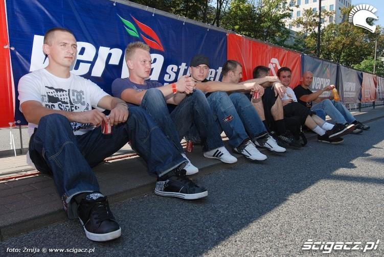 Stunt ekipa na pokazach Verva w Warszawie