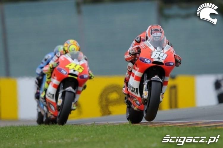 Rossi Hayden MotoGP Sachsenring 2011
