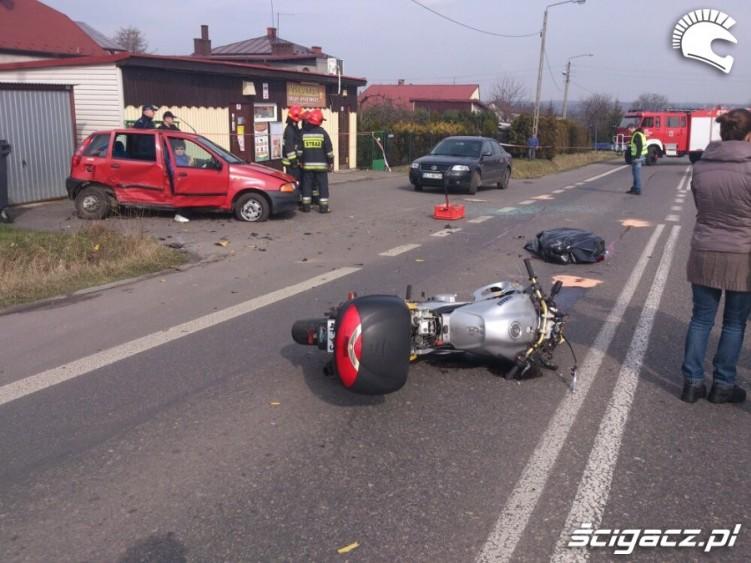Wypadki motocyklowe 2016 Cieszyn