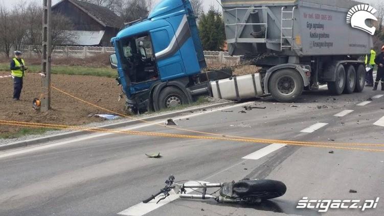 Wypadki motocyklowe 2016 Proszowice