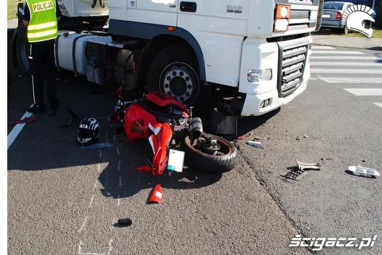 Wypadki motocyklowe 2016 TIR