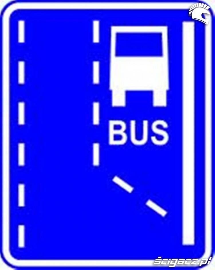 Bus pas znak